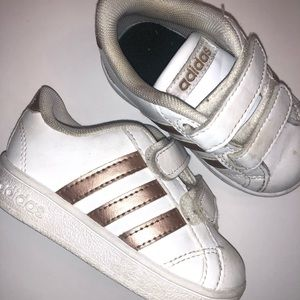 Rose gold toddler adidas
